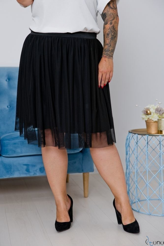 Czarna Spódnica CORTNEY Plus Size