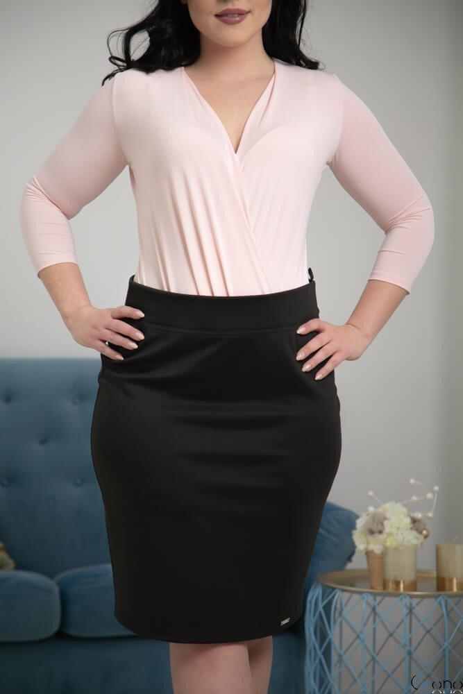 Czarna Spódnica PILAR Plus Size