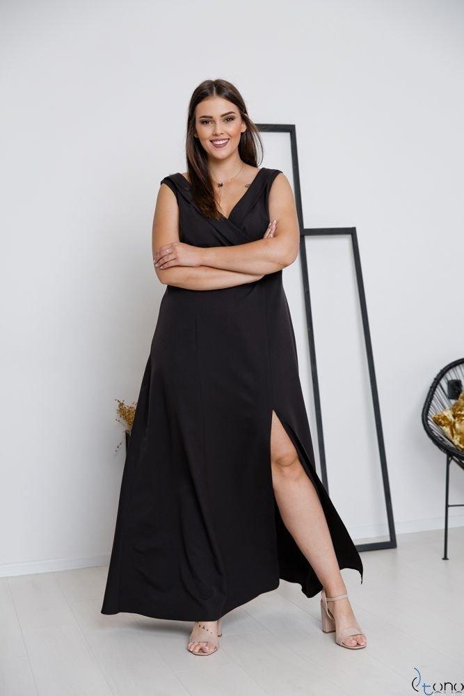 Czarna Sukienka BEATRIZ Plus Size Maxi