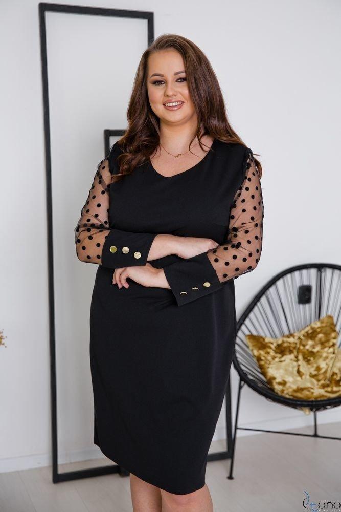 Czarna Sukienka BOFFINA Plus Size