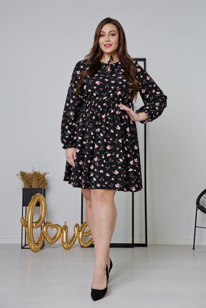Czarna Sukienka CHERYL Plus Size