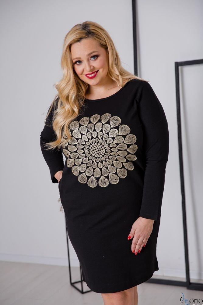 Czarna Sukienka ERICA Plus Size