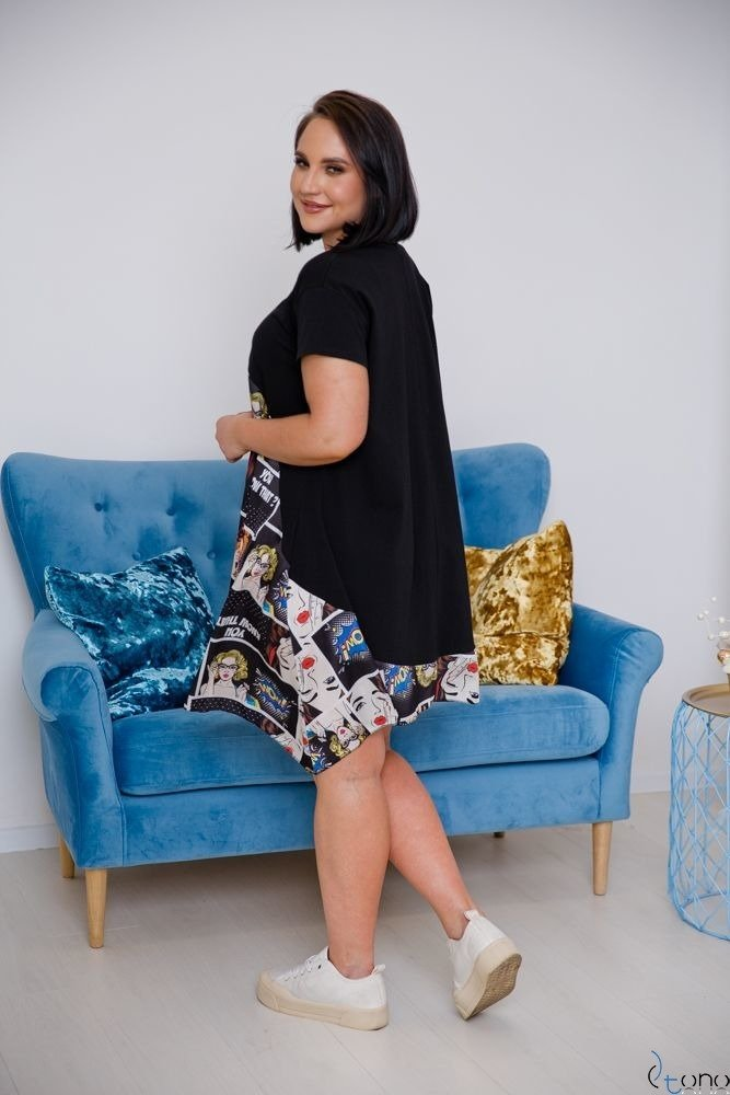 Czarna Sukienka FILANO Plus Size