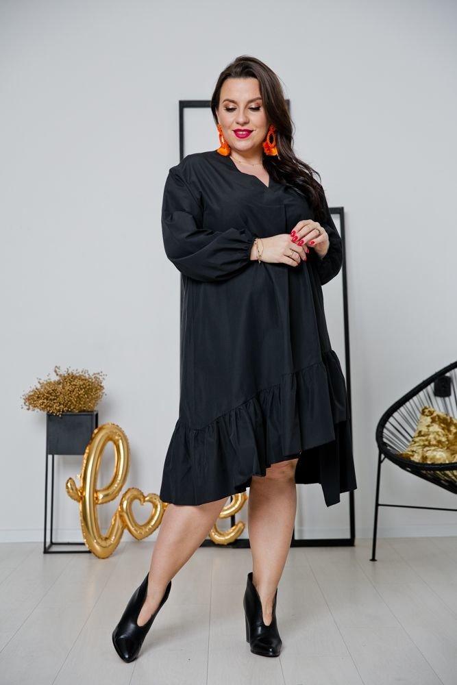 Czarna Sukienka METTIA Plus Size