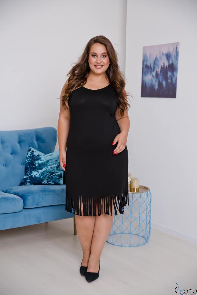 Czarna Sukienka NAPPA Plus Size
