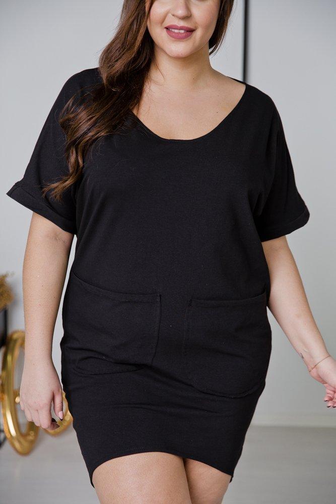 Czarna Sukienka NEMA Plus Size