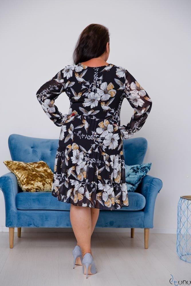 Czarna Sukienka OCELIA Plus Size
