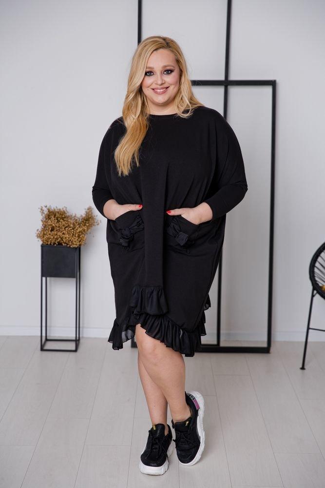 Czarna Sukienka PRINCESKA Plus Size