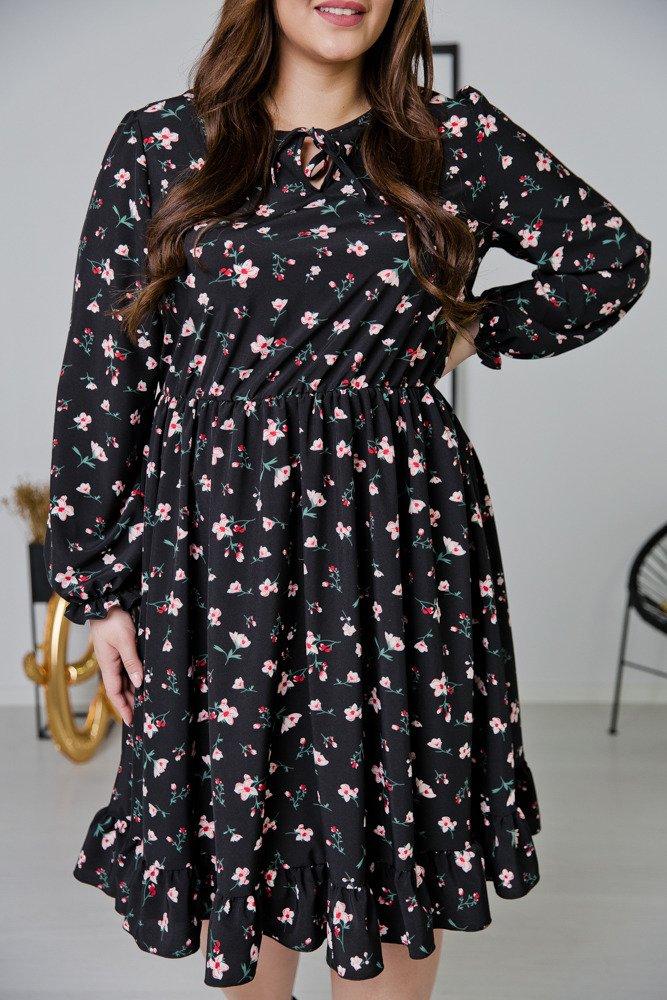 Czarna Sukienka STACY Plus Size