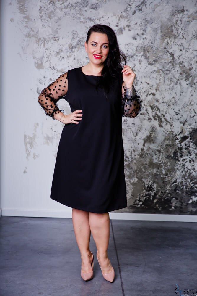 Czarna Sukienka SYLWESTRA Plus Size