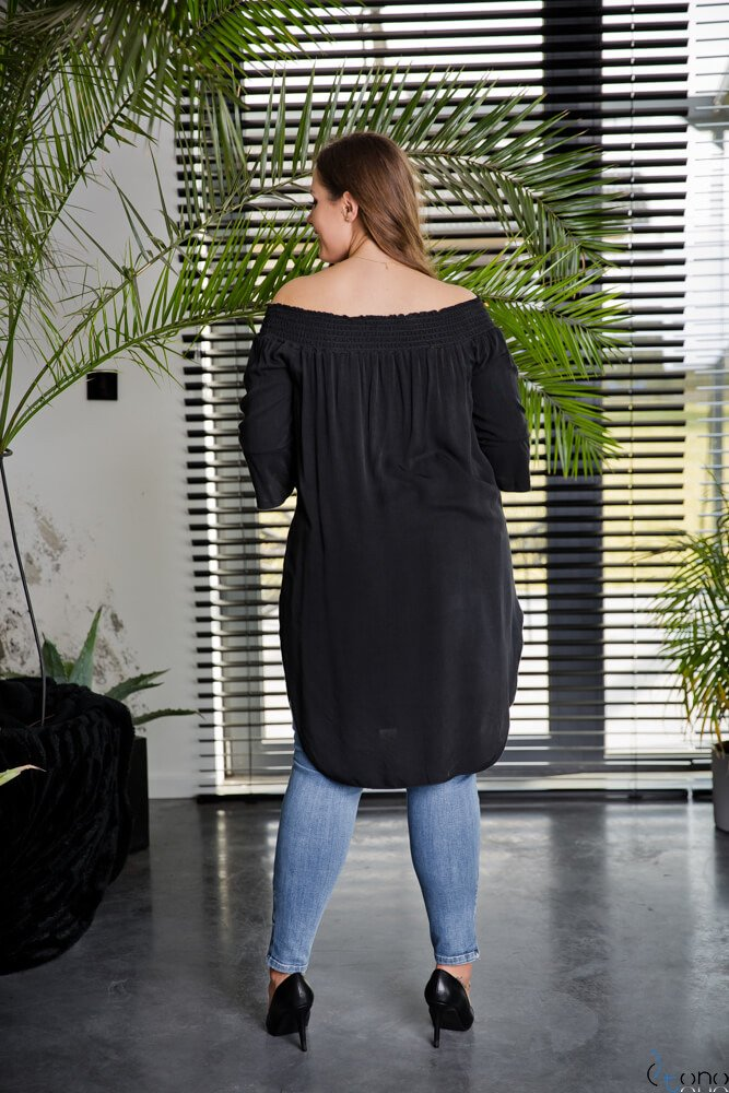 Czarna Tunika MANOLLA Plus Size