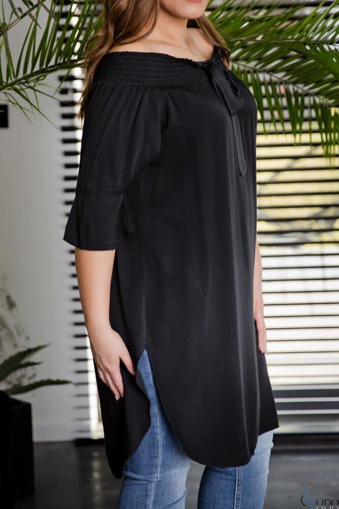 Czarna Tunika MANOLLA Plus Size