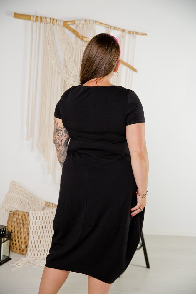 Czarna Tunika SHELLY Plus Size Wzór 4