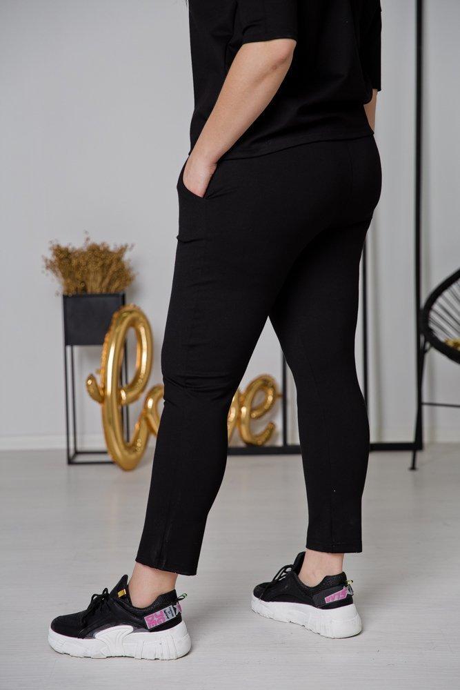 Czarne Spodnie ADELE Plus Size