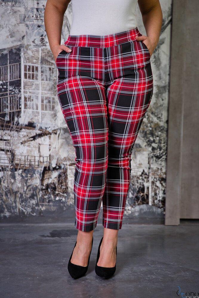 Czarne Spodnie AZURO Plus Size Kratka