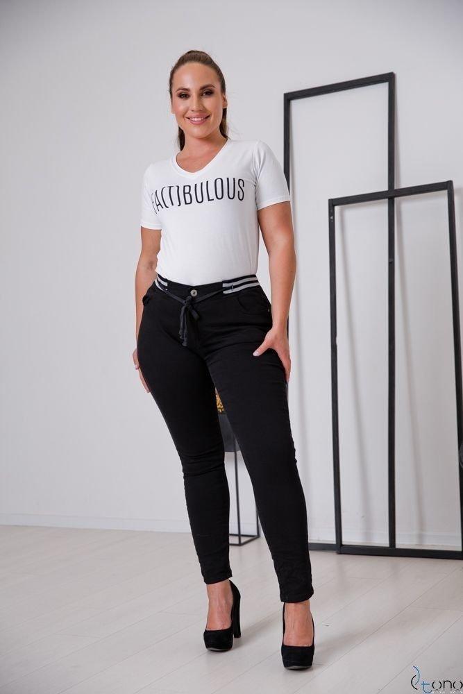 Czarne Spodnie FILIO Plus Size