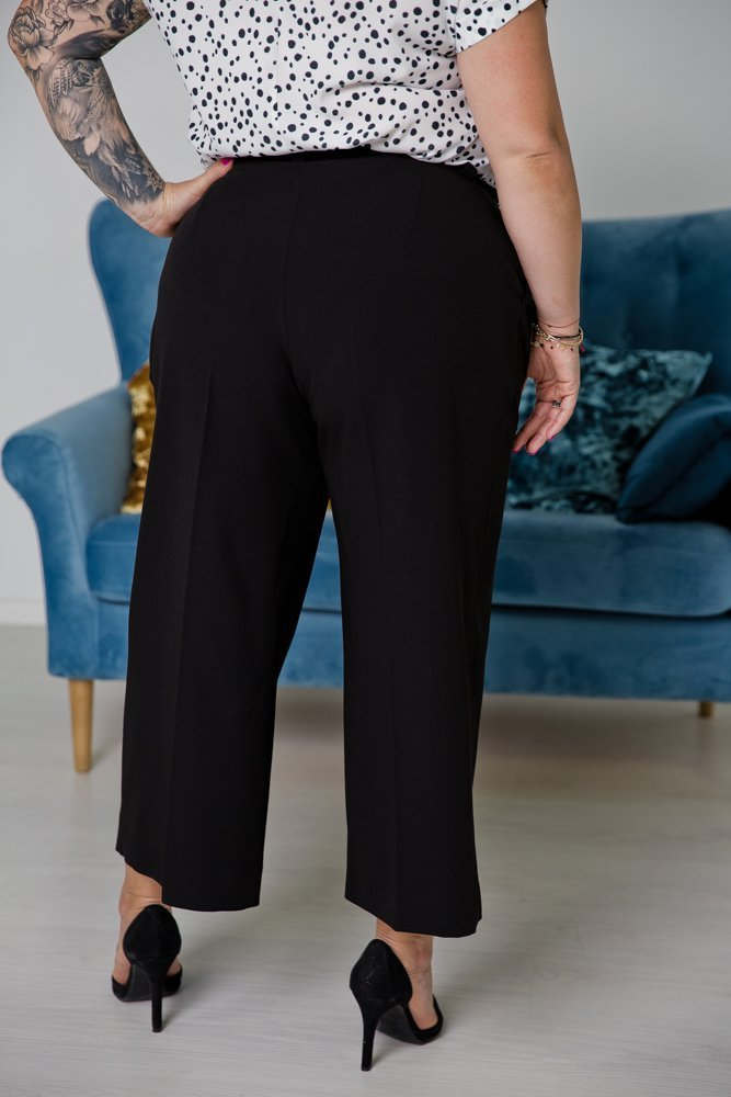 Czarne Spodnie LARYS Plus Size