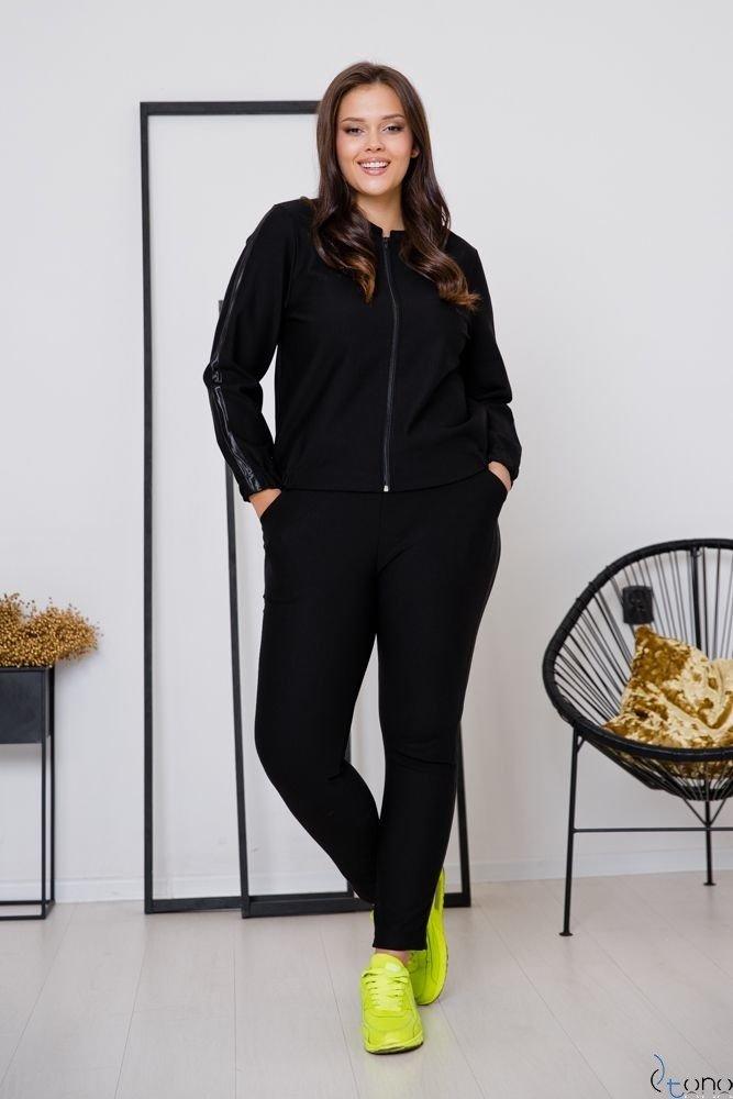 Czarne Spodnie LAVICCA Plus Size Wzór 1