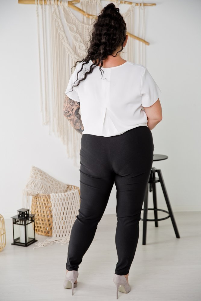 Czarne Spodnie LUCIUS Plus Size