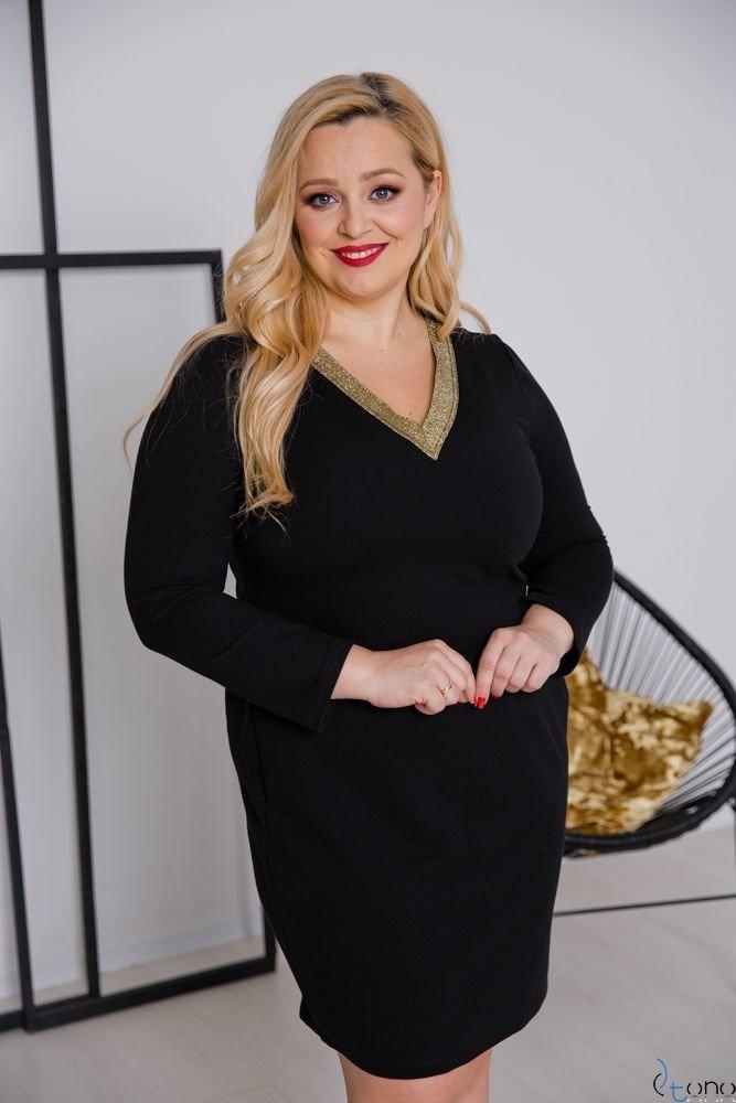 Czarno-Złota Sukienka ARYA Plus Size