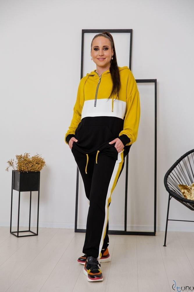 Czarno-żółty Dres TRIPLE Plus Size