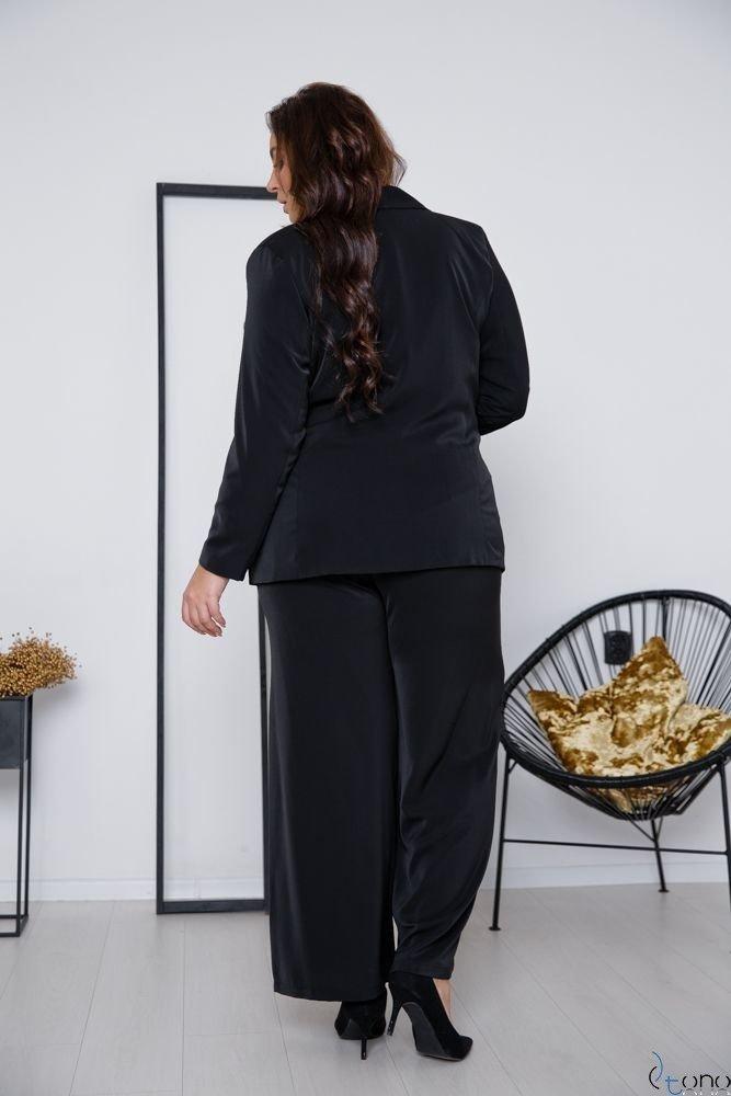 Czarny Garnitur MARIVA Plus Size