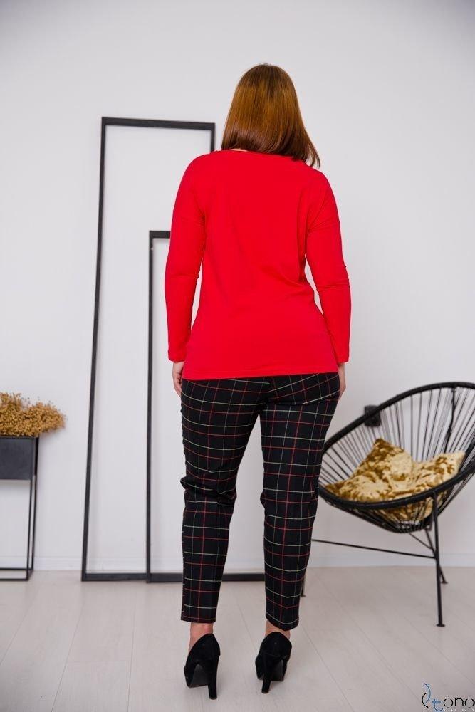 Czerwona Bluzka GESPER Plus Size