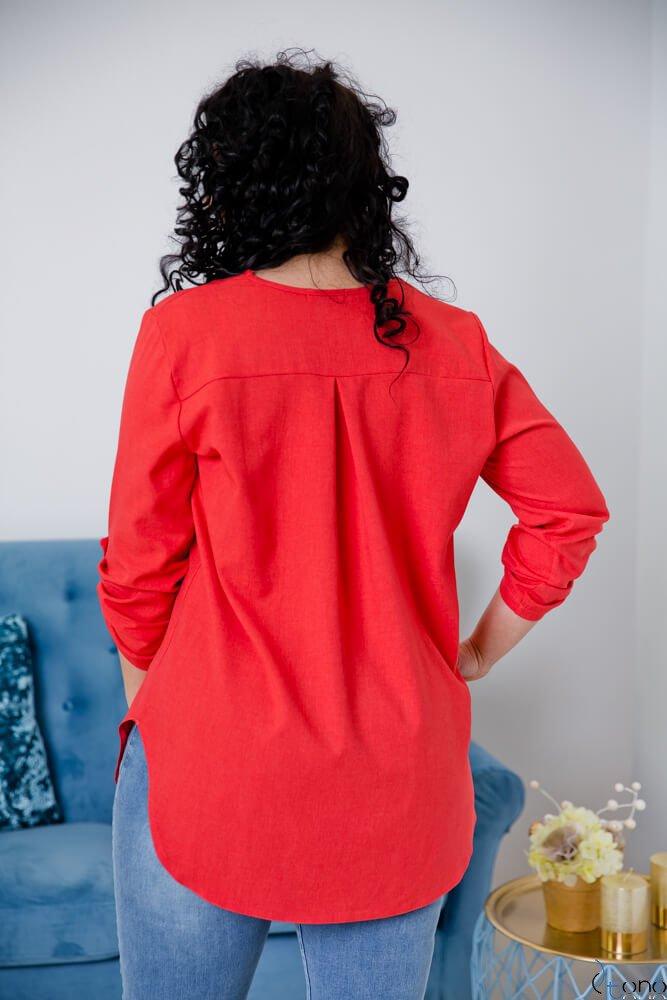 Czerwona Bluzka JUSTIN Plus Size