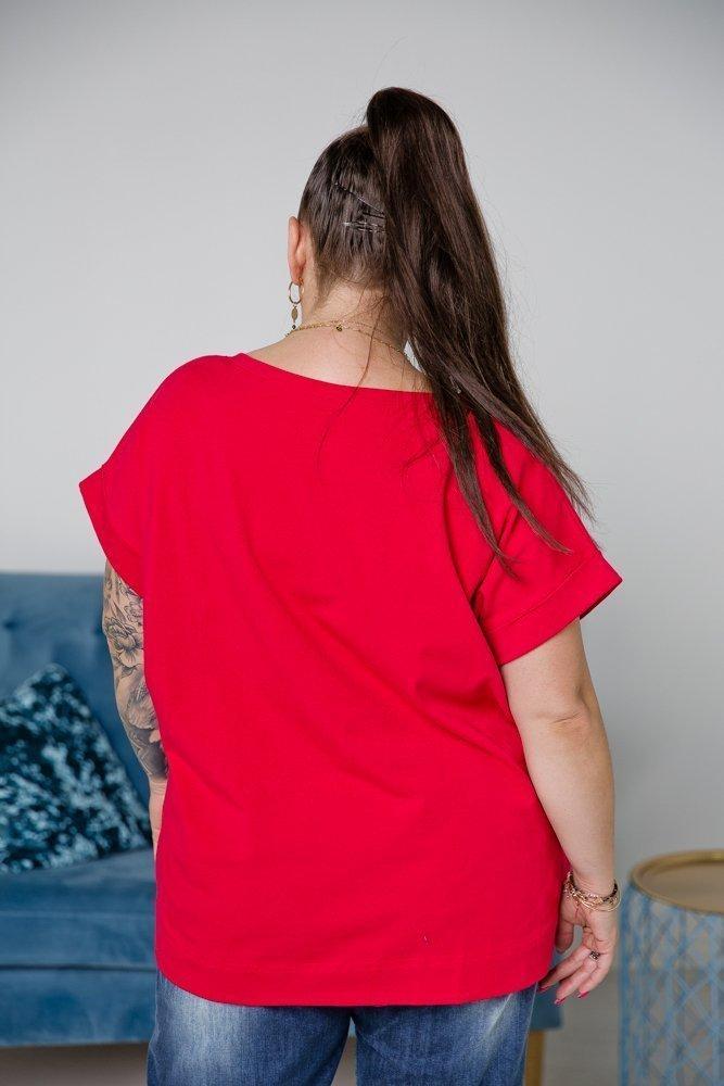 Czerwona Bluzka MINNIE Plus Size