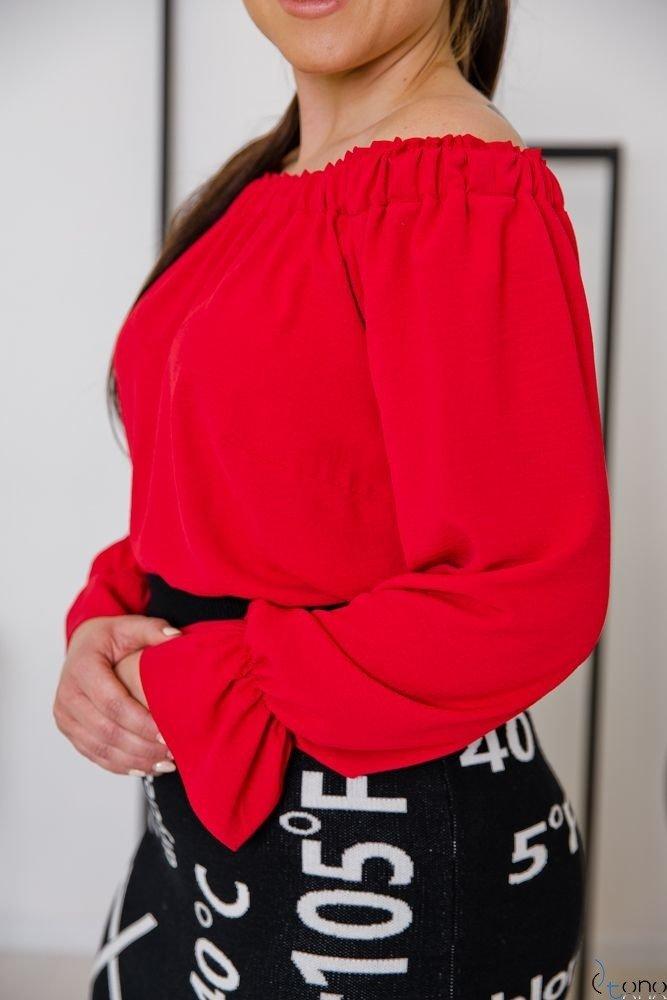 Czerwona Bluzka SEVIJA Plus Size