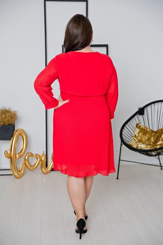 Czerwona Sukienka ESTIVA Plus Size