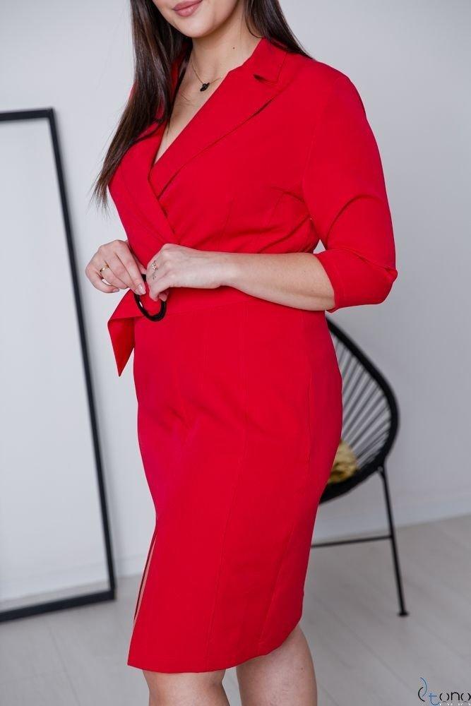 Czerwona Sukienka KELES Plus Size