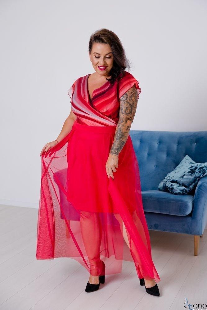 Czerwona Sukienka VESTRINA Plus Size