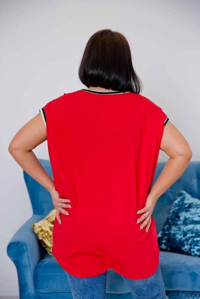 Czerwona Tunika DEGREES Plus Size