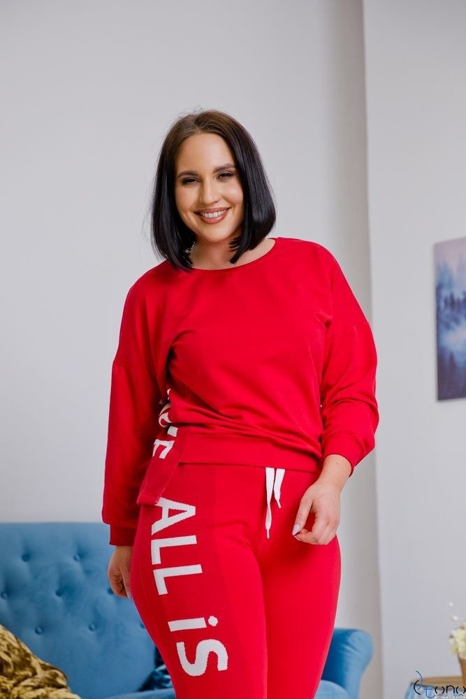 Czerwony Dres DEZIRE Plus Size