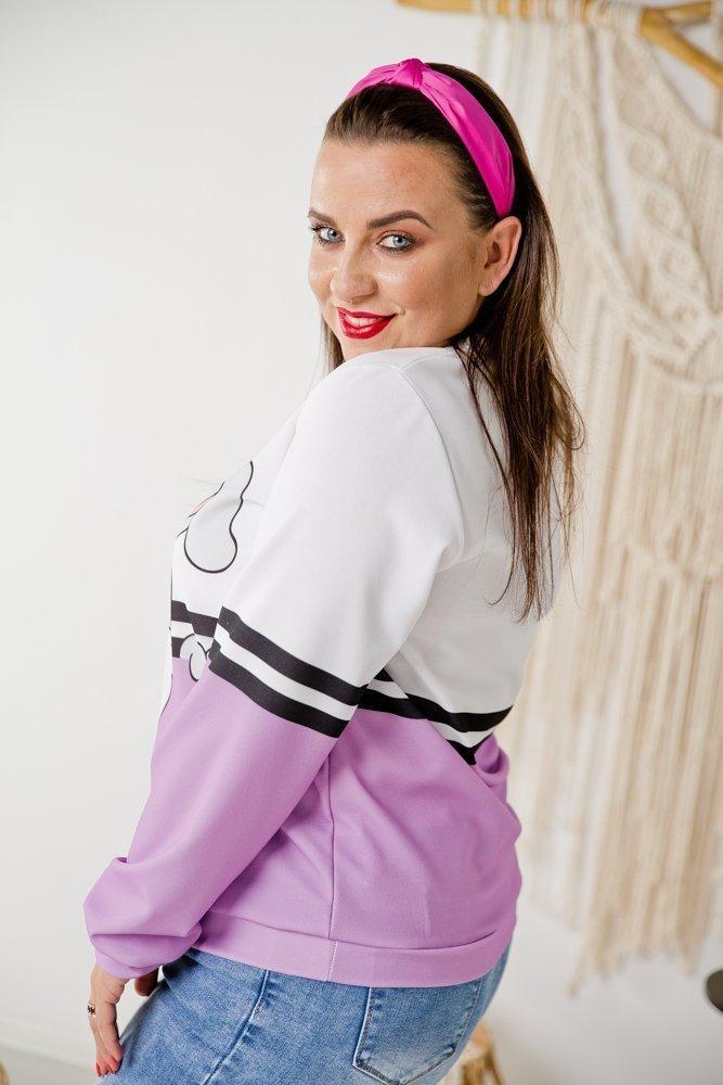 Fioletowa Bluza DOLI Plus Size Wzór 5