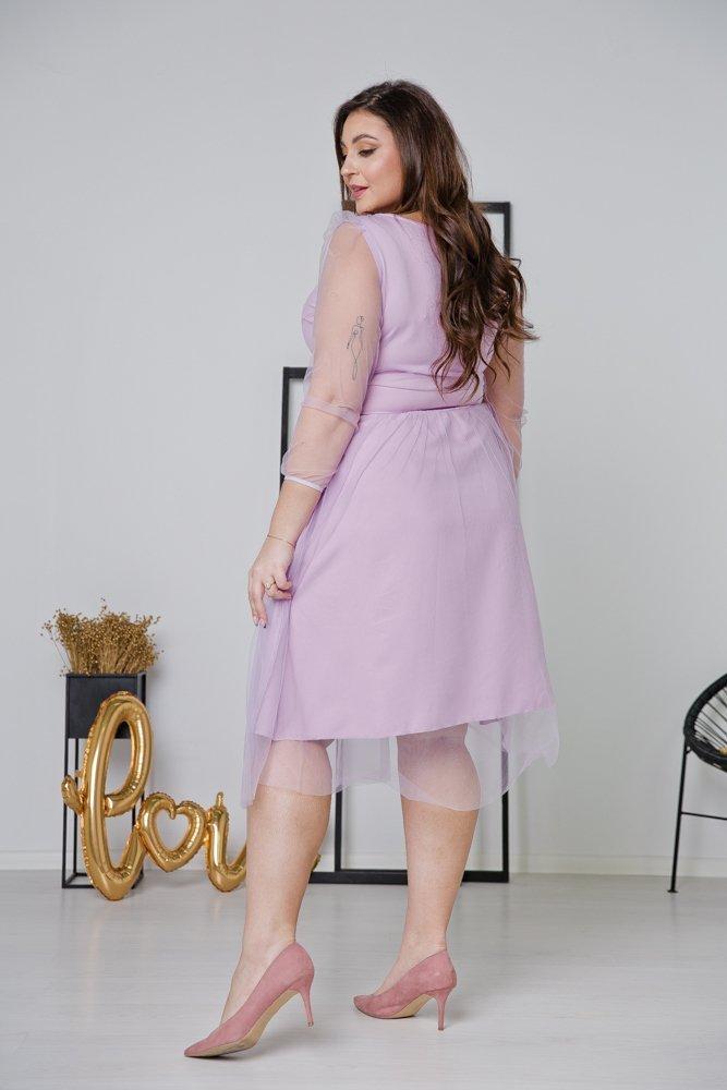 Fioletowa Sukienka JASMINE Plus Size