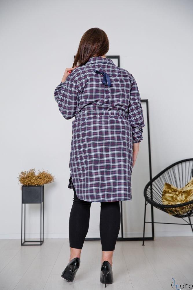 Granatowa Koszula FIENA Plus Size