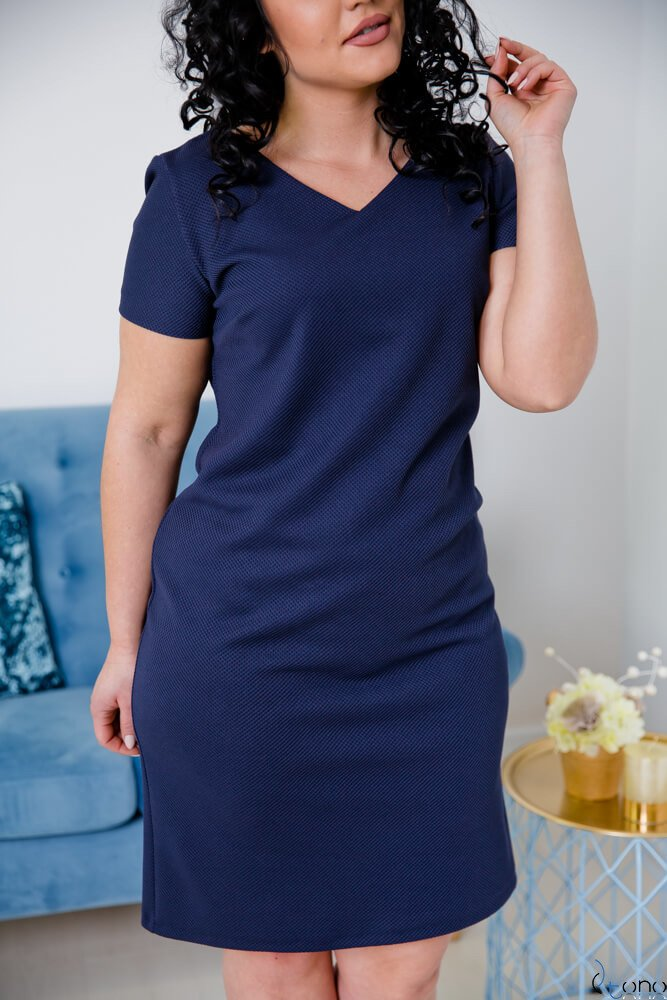 Granatowa Sukienka CARISMA Plus Size