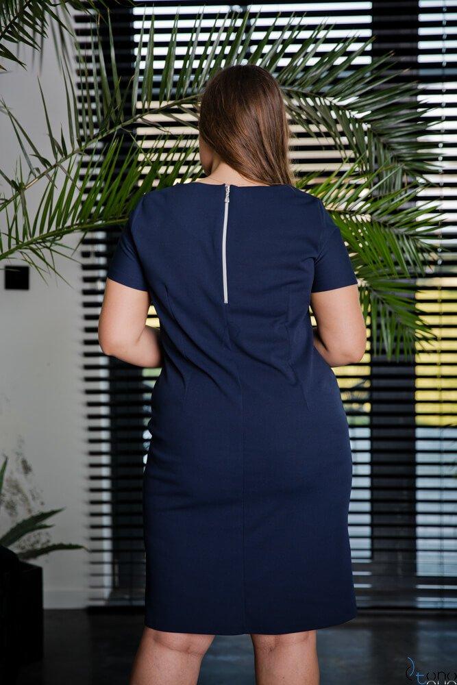 Granatowa Sukienka EJMY Plus Size