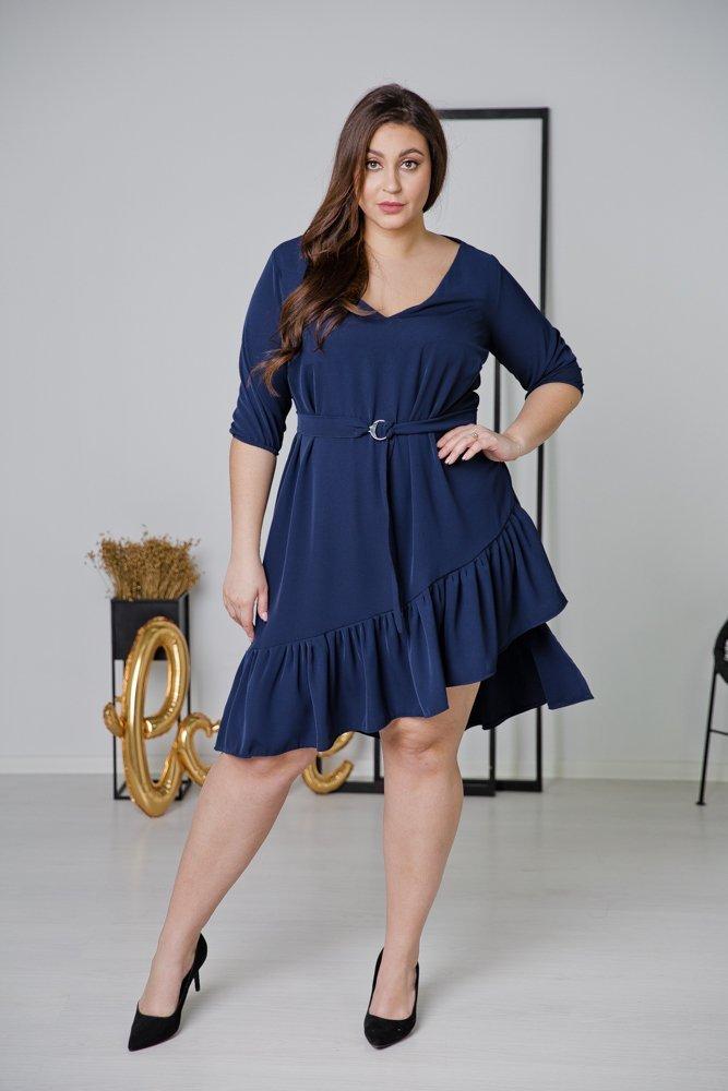 Granatowa Sukienka ELENA Plus Size