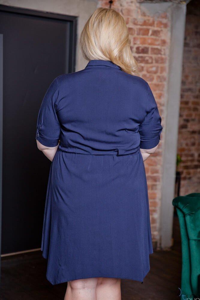 Granatowa Sukienka GRIMA Plus Size