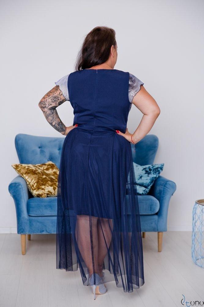 Granatowa Sukienka VESTRINA Plus Size