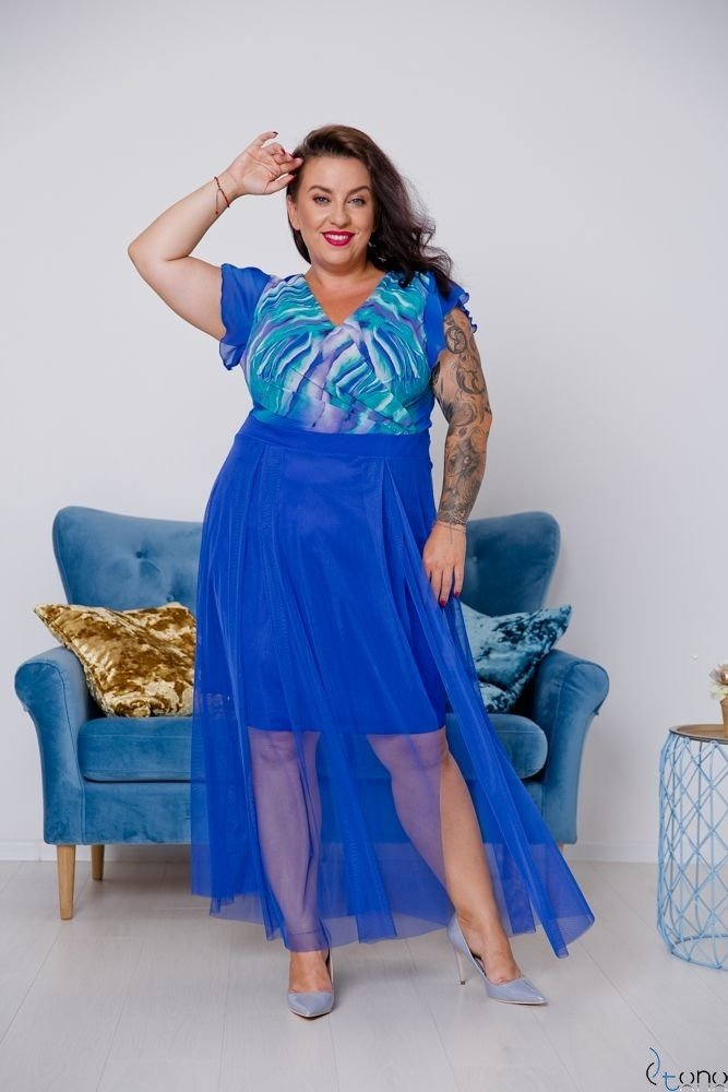 Chabrowa Sukienka VESTRINA Plus Size