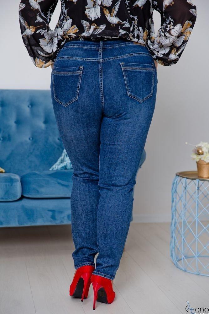 Granatowe Spodnie MOSEY Plus Size