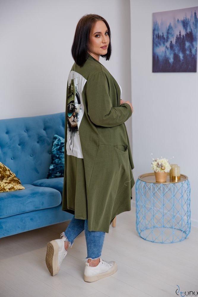 Kardigan IDIOMA Khaki Plus Size