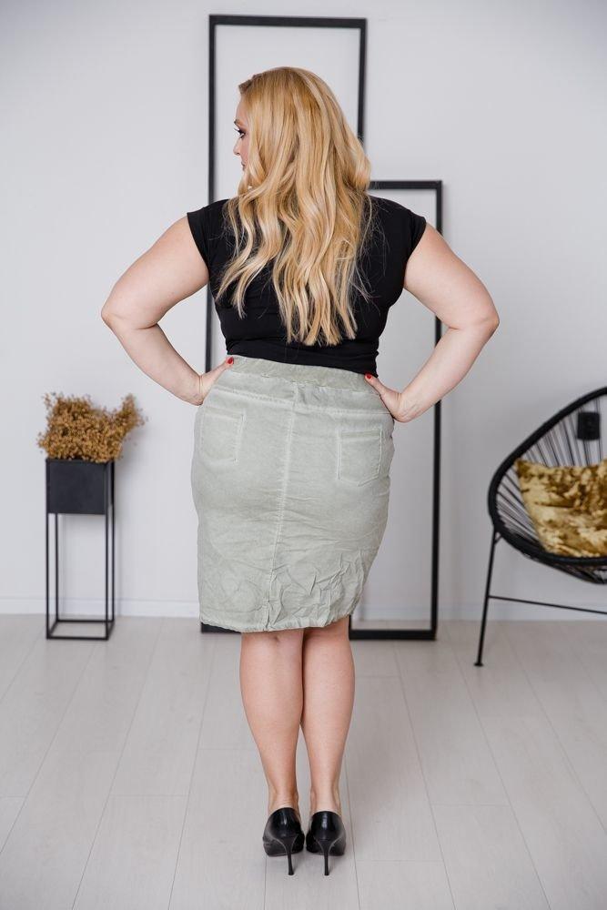 Khaki Spódnica DENIMA Plus Size
