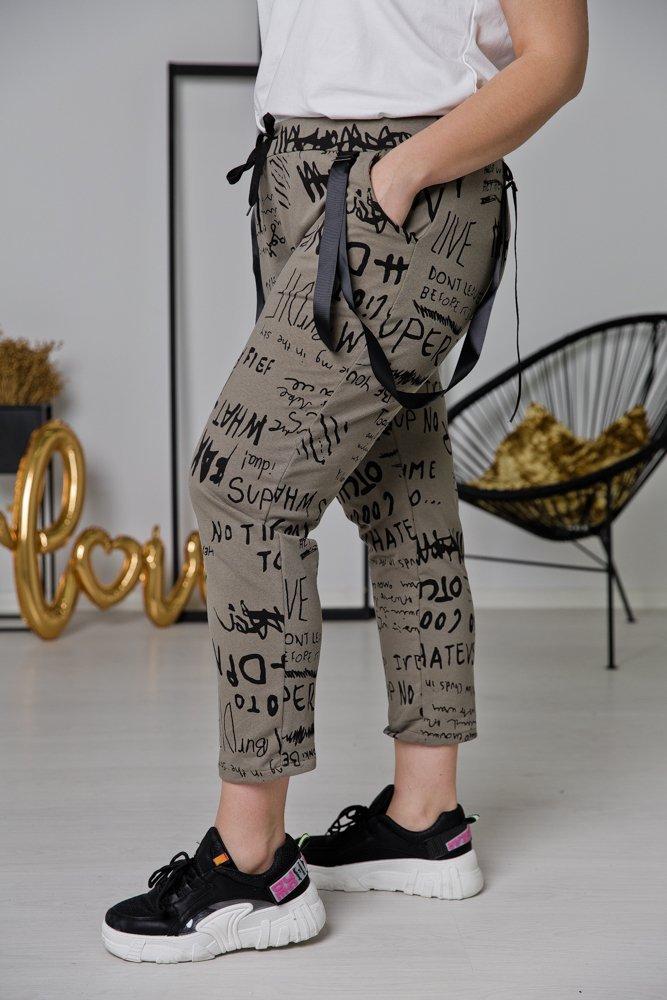 Khaki Spodnie ADINA Plus Size