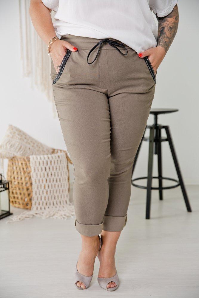 Khaki Spodnie LUCIUS Plus Size