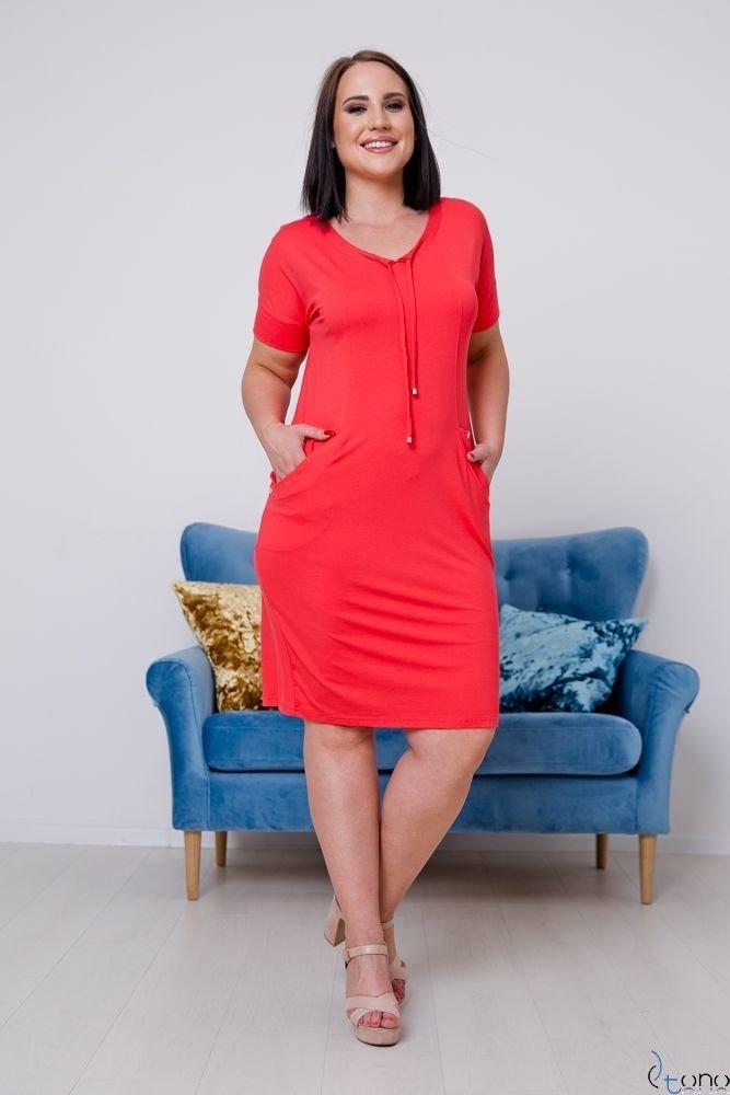 Koralowa Sukienka ASTERIA Plus Size